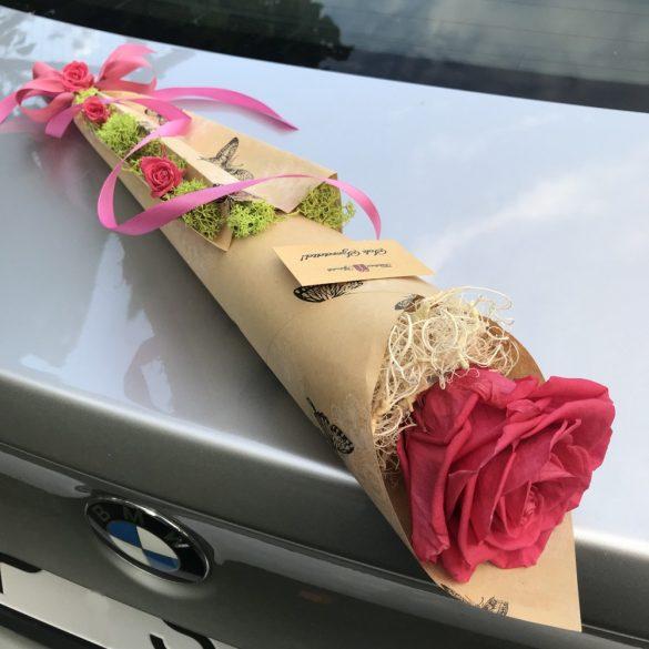 Örök rózsa / Forever rose csokor - Dark Pink