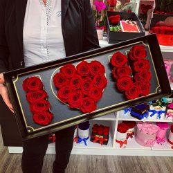 I LOVE YOU Örök rózsa doboz / Forever Rose Box - VÖRÖS