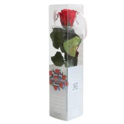 Örök Rózsa szál / Forever Rose PVC díszdobozban 30 cm - Piros