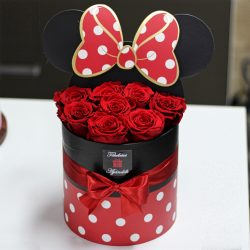Örök rózsa / Forever Rose Minnie Box - VÖRÖS