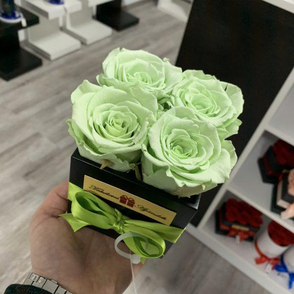 Örök rózsa / Forever Rose Kocka díszdobozban - MINT GREEN
