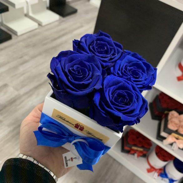 Örök rózsa / Forever Rose Kocka díszdobozban - SÖTÉTKÉK