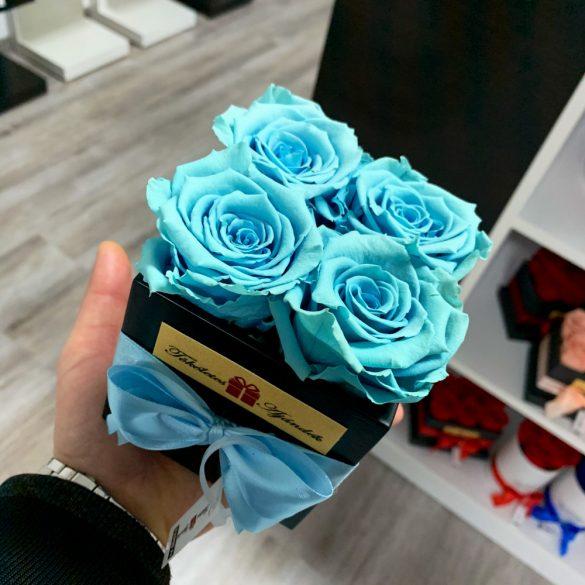 Örök rózsa / Forever Rose Kocka díszdobozban - VILÁGOSKÉK