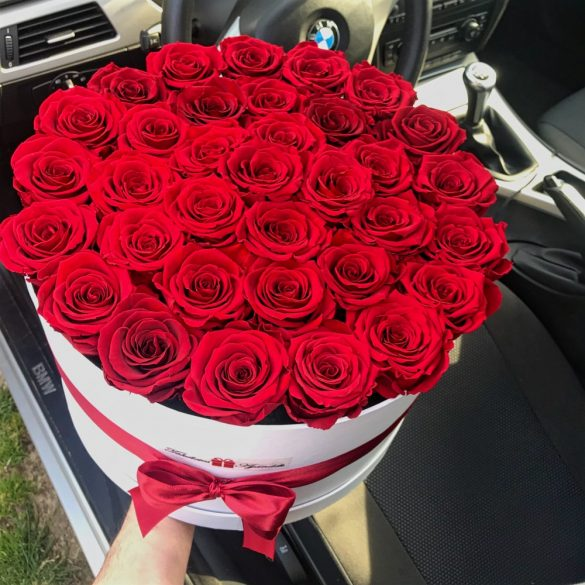 Örök rózsa / Forever Rose Nagy Box henger díszdobozban VÖRÖS