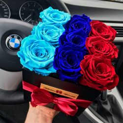 Örök rózsa / Forever Rose Kocka díszdobozban - BMW