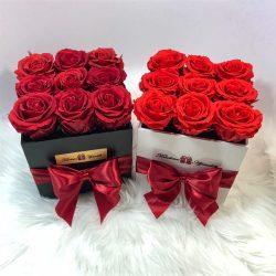 Örök rózsa / Forever Rose Kocka díszdobozban - VÖRÖS